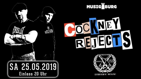 Cockney Rejects (UK) - 30th Anniversary Tour 2019 - Support: Drinking Squad (D)