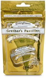 Grether's Pastilles Elderflower, Nachfüllung, 2 x 100 g, Duo