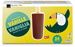 Coop Rahmglace Vanille, Fairtrade Max Havelaar, 24 x 57 ml