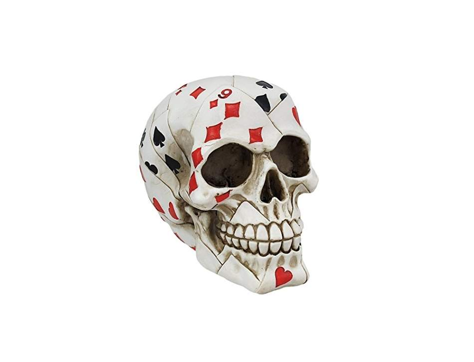 Playing Card Poker Skull Figure