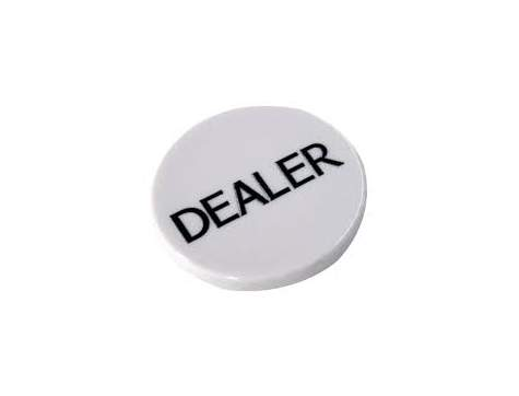 White Poker Button - Dealer Button