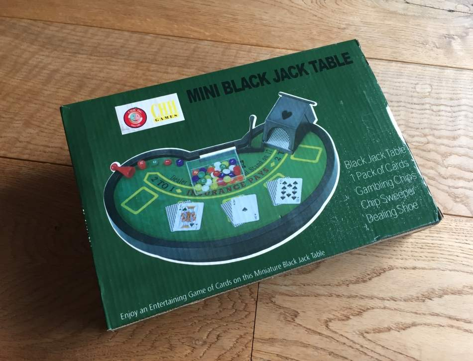 Mini Black Jack Table Game Set