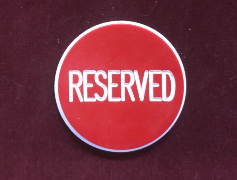 Poker Reserved Button