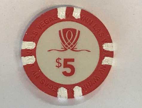 5$ Chip Wynn/Encore Las Vegas (Poker, Blackjack, Roulette)