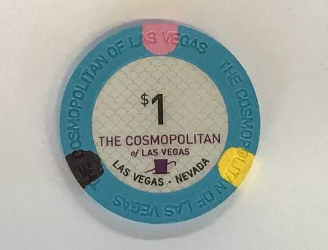 1$ Chip The Cosmopolitan of Las Vegas (Poker, Blackjack, Roulette)