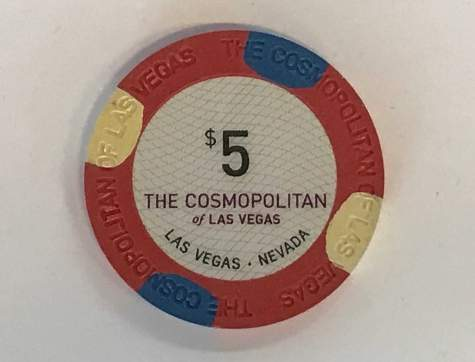5$ Chip The Cosmopolitan of Las Vegas (Poker, Blackjack, Roulette)