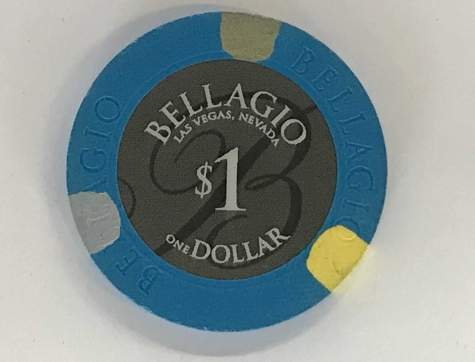 1$ Chip Bellagio in Las Vegas (Poker, Blackjack, Roulette)