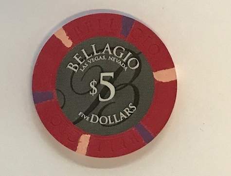 5$ Chip Bellagio in Las Vegas (Poker, Blackjack, Roulette)