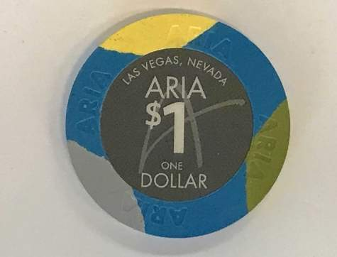 1$ Chip Aria in Las Vegas (Poker, Blackjack, Roulette)