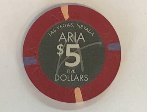 5$ Chip Aria in Las Vegas (Poker, Blackjack, Roulette)