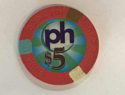 5$ Chip Planet Hollywood in Las Vegas (Poker, Blackjack, Roulette)
