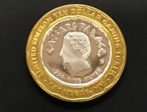 Silbermünze - Caesars Palace Casino Las Vegas Limited Edition Gaming Token