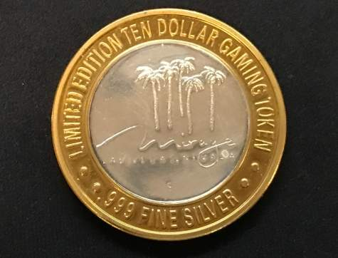 Silbermünze - The Mirage Casino Las Vegas Limited Edition Gaming Token