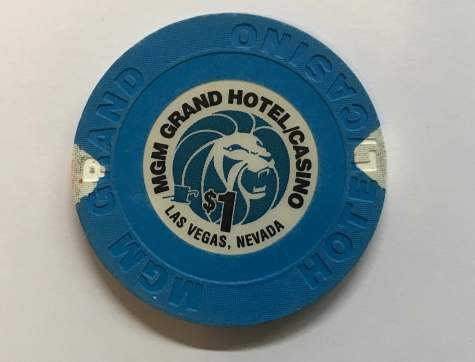 1$ Chip MGM Grand Hotel/Casino in Las Vegas (Poker, Blackjack, Roulette)