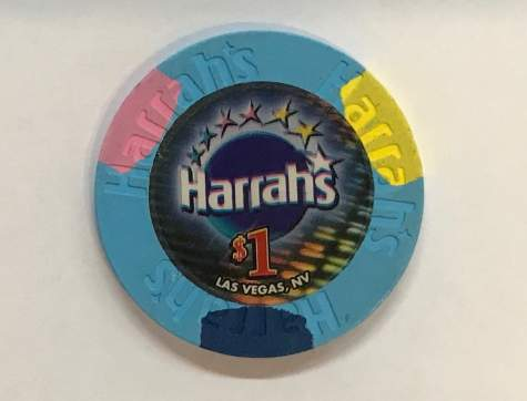 1$ Chip Harrah's in Las Vegas (Poker, Blackjack, Roulette)