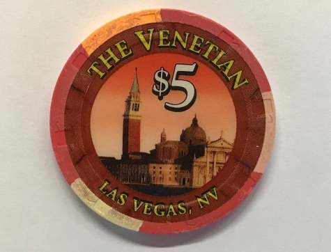 5$ Chip The Venetian in Las Vegas (Poker, Blackjack, Roulette)