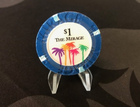 Chip 1$ blau The Mirage in Las Vegas (Poker, Blackjack, Roulette)