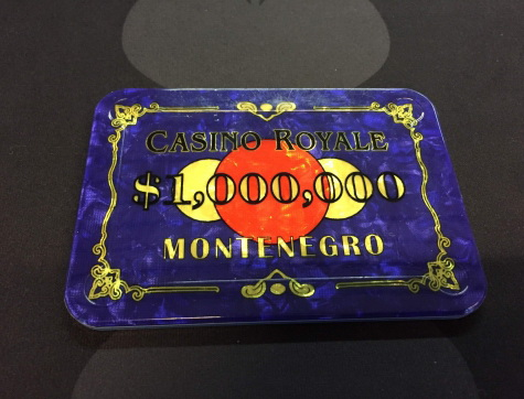 Casino Royale $1 Millionen Plaque (Poker-Plakette)