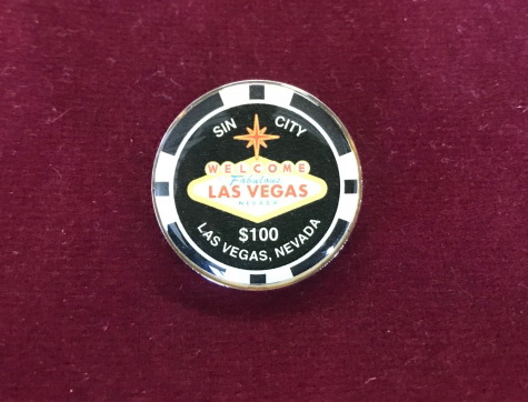 Pin Sin City Las Vegas $100 chip