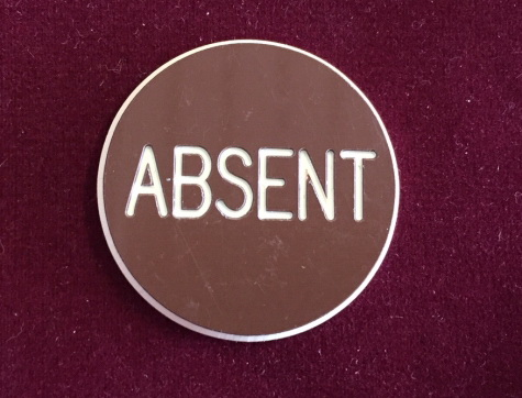 Absent Poker Button (Platzhalter Chip)
