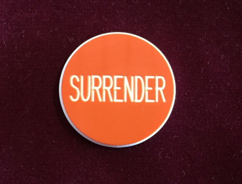 Surrender Poker Button