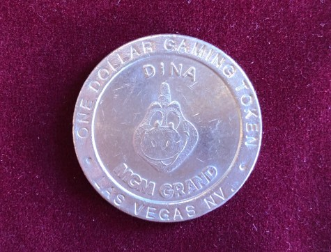 Token / Münze - Casino MGM Grand in Las Vegas 1 Dollar Gaming Token Dina
