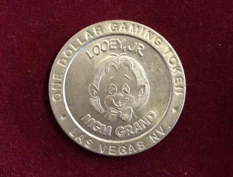 Token / Münze - Casino MGM Grand in Las Vegas 1 Dollar Gaming Token Looey, JR