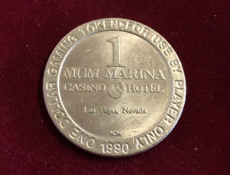 Token / Münze - Casino MGM Grand in Las Vegas 1 Dollar Gaming Token Marina