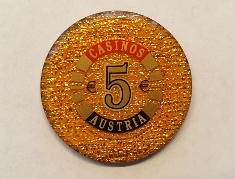 Chip 5 Casinos Austria (Poker, Blackjack, Roulette)
