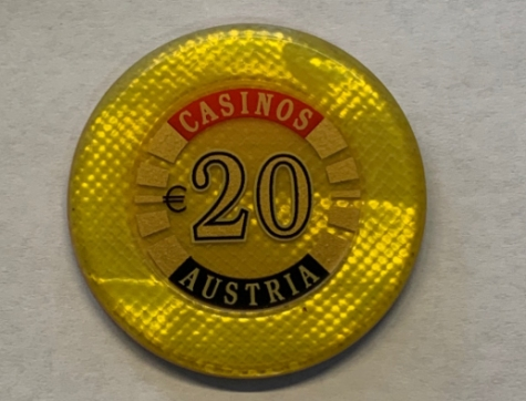 Chip 20 Casinos Austria (Poker, Blackjack, Roulette)