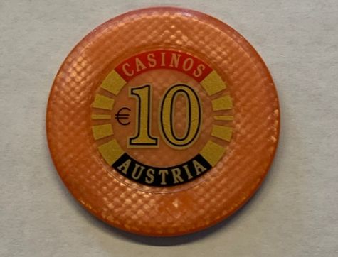 Chip 10 Casinos Austria (Poker, Blackjack, Roulette)