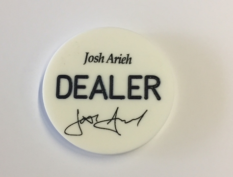 White Dealer Poker Button