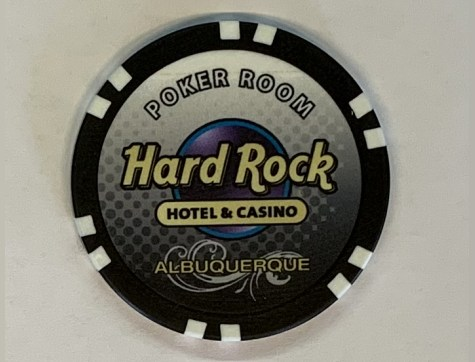 Chip Hard Rock Hotel & Casino Albuquerque Tournament(Poker, Blackjack, Roulette)