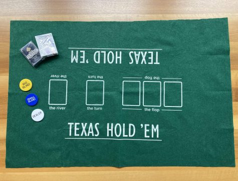 Poker-Set Texas Hold'em Spielunterlage