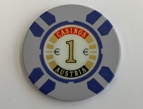 Chip 1 Casinos Austria (Poker, Blackjack, Roulette)