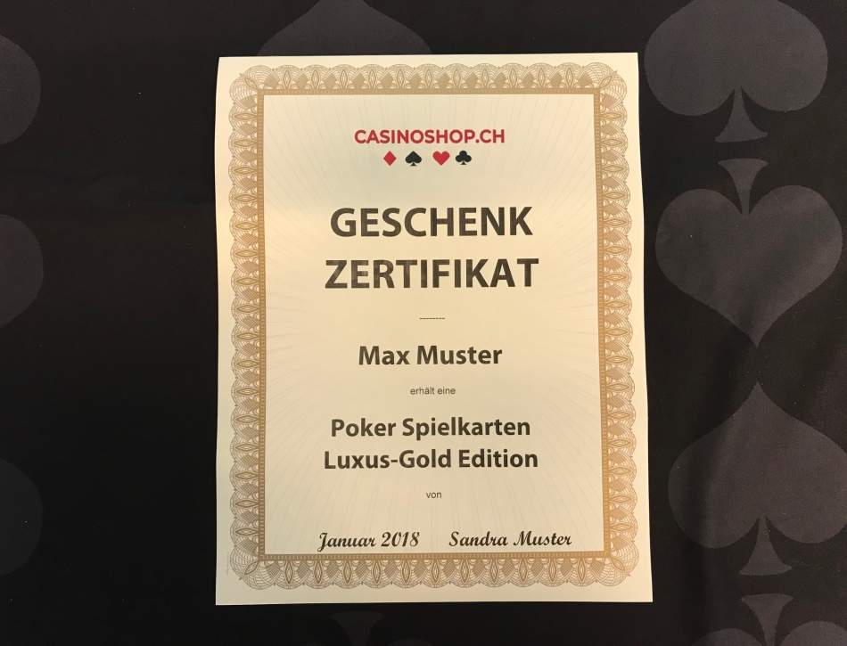 Poker und Blackjack Spielkarten Luxus-Gold Edition